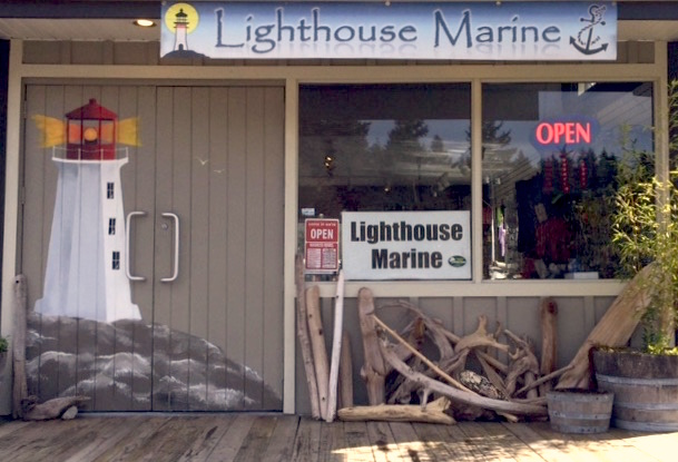 Exterior of the Lighthouse Marine Store